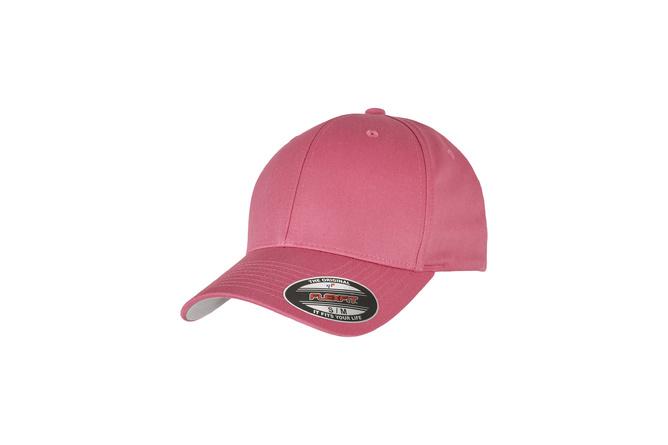 Casquette baseball Wooly Combed Flexfit dark rose L/XL