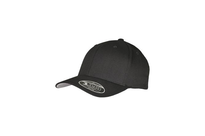 Casquette baseball Wooly Combed Flexfit ajustable noir